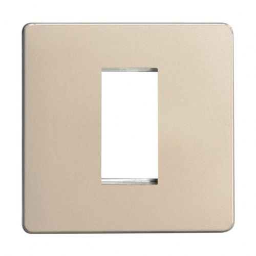 Varilight XDNG1S Screwless Satin Chrome DataGrid Plate (1 DataGrid Space)